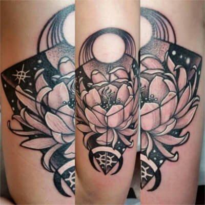 custom flower tattoo by Green Bay, WI tattoo artist Greg Counard