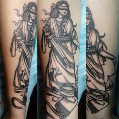 custom tattoo by Green Bay, WI tattoo artist Greg Counard