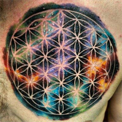Colorful custom tattoo by Green Bay, WI tattoo artist Greg Counard
