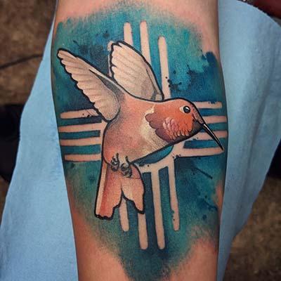 hummingbird tattoo by Greg Counard