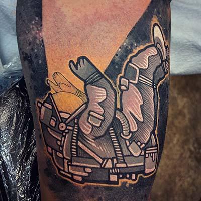 astronaut tattoo by Greg Counard