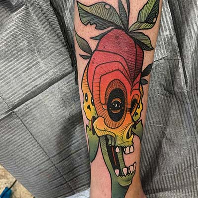 deadly chili peppers tattoo by Greg Counard