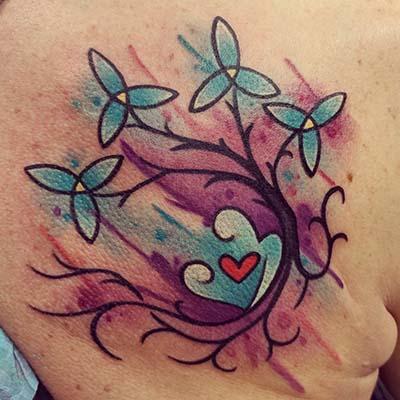 flower tattoo by greg counard