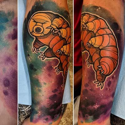 water bear tattoo by Greg Counard
